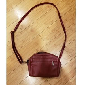 3/30 Roots red leather crossbody see flaws…